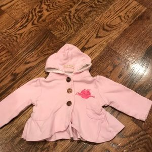 Soft pink lightweight apple bottom jacket